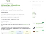 Different Types of Tennis Shoes