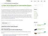 Tennis Racquet For Intermediate Player