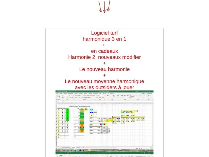 2 logiciels excel turf harmonique et harmonie
