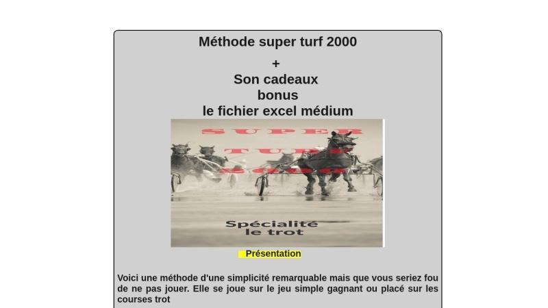 methode super turf 2000