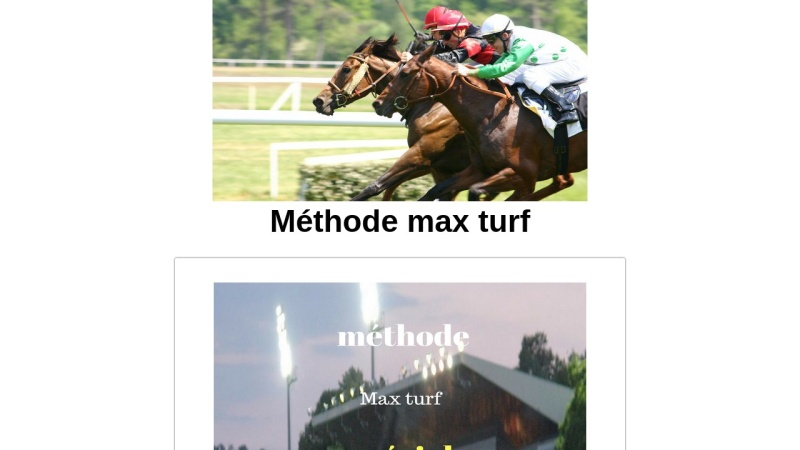 methode max turf