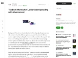 The Best Aftermarket Liquid Cooler Spreading with Advancement