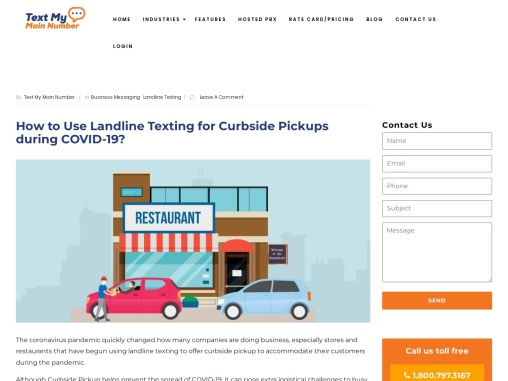 How to Use Landline Texting for Curbside Pickups during COVID-19?