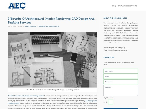 3 Benefits Of Architectural Interior Rendering: CAD Design And Drafting Services