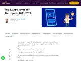 Top 52 App Ideas for Startups in 2021-2022 – The App Ideas