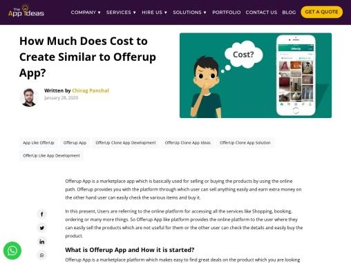 Offerup App Development Cost – The App Ideas