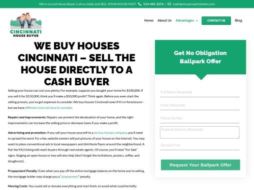 Sell My House for Cash in Cincinnati