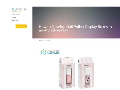 Custom Printed Nail Polish Display Boxes