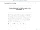 Troubleshooting Tips for Bluetooth Driver in Windows 10
