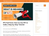 How to use RTI in India / theexpressarticle