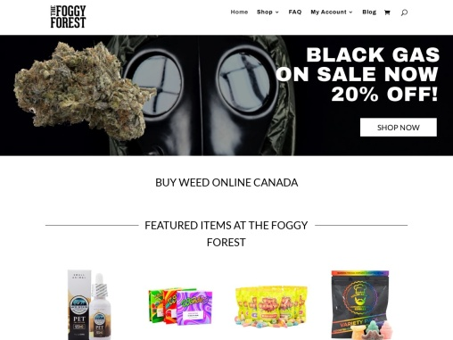 The Foggy Forest Canada's best Marijuana selling company