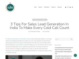 3 Tips For Sales Lead Generation In India To Make Every Cold Call Count