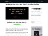 Anthony Morrison Net Worth and Key Habits
