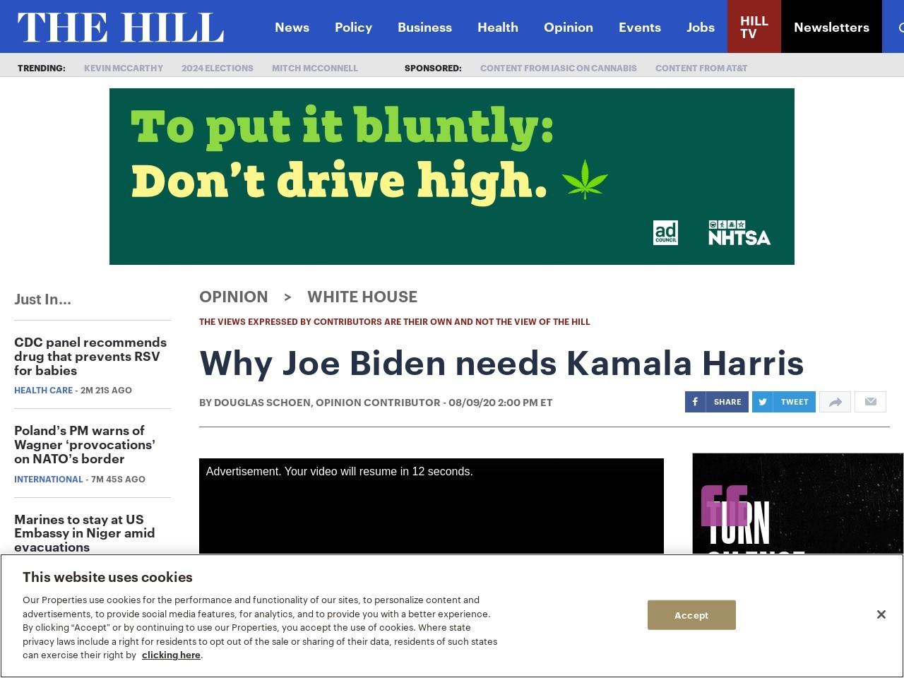 Why Joe Biden needs Kamala Harris