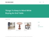 Things To Keep In Mind While Buying An End Table