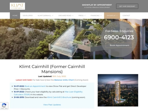 Klimt Cairnhill price Cairnhill Mansions
