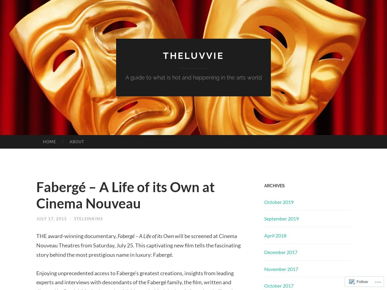 Fabergé – A Life of its Own at Cinema Nouveau | theluvvie