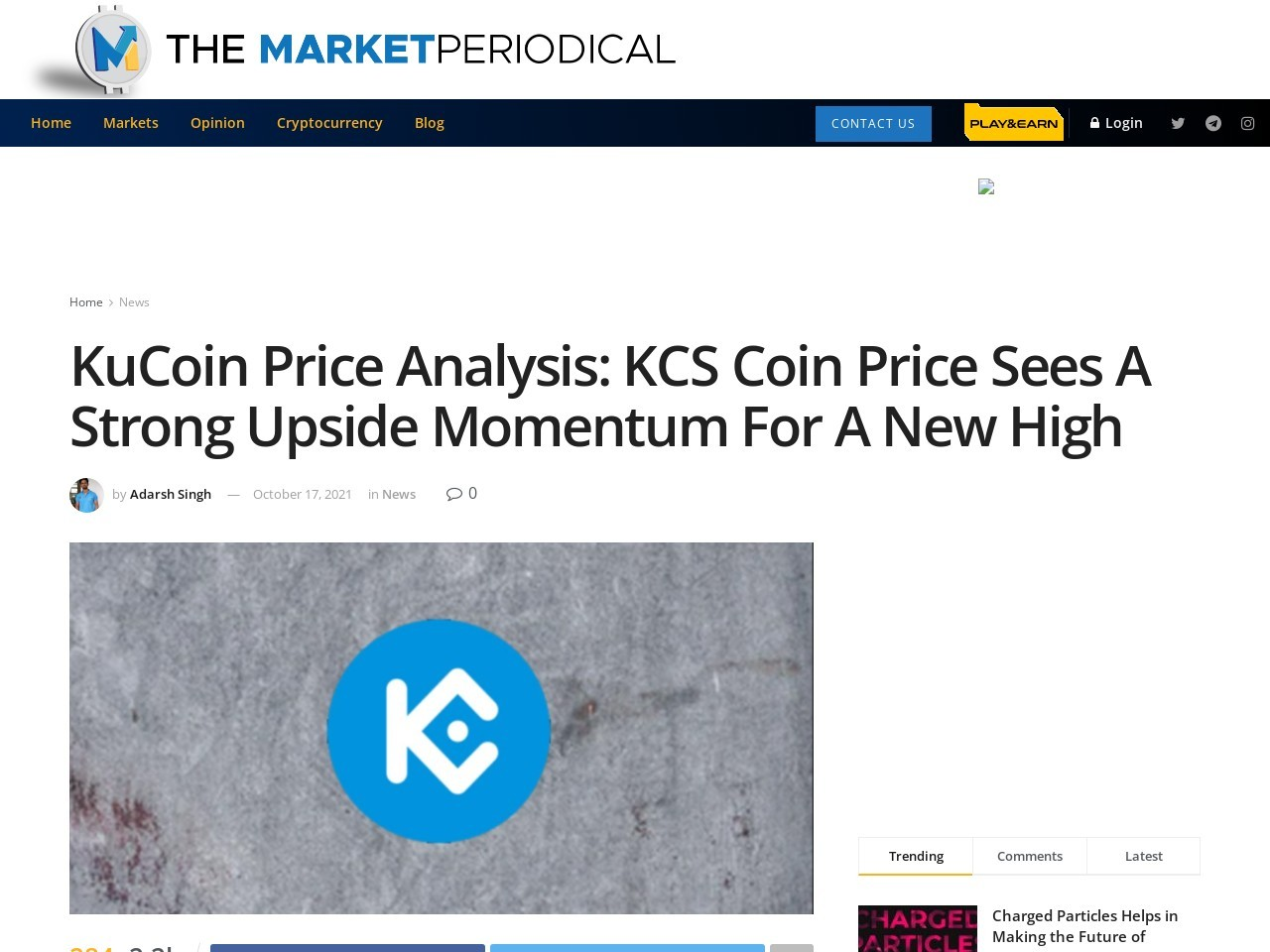 KuCoin Price Analysis: KCS Coin Price Sees A Strong Upside Momentum For A New High – Cryptocurrency News – The Market Periodical