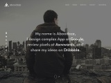 One Page Creative Portfolio HTML Template 2020