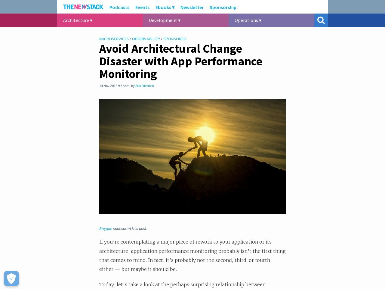Avoid Architectural Change Disaster with App Performance Monitoring
