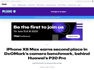 iPhone XS Max earns second place in DxOMark's camera benchmark, behind Huawei's P20 Pro