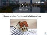5 Secrets to Selling Your Home at its Full Asking Price