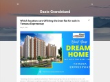 Is It Safe To Buy Apartments In The Oasis Grandstand Project In Yamuna Expressway