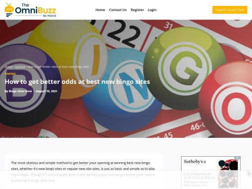 How to get better odds at best new bingo sites
