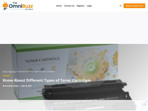 Know About Different Types of Toner Cartridges