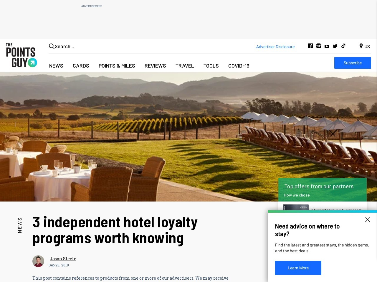 3 independent hotel loyalty programs worth knowing