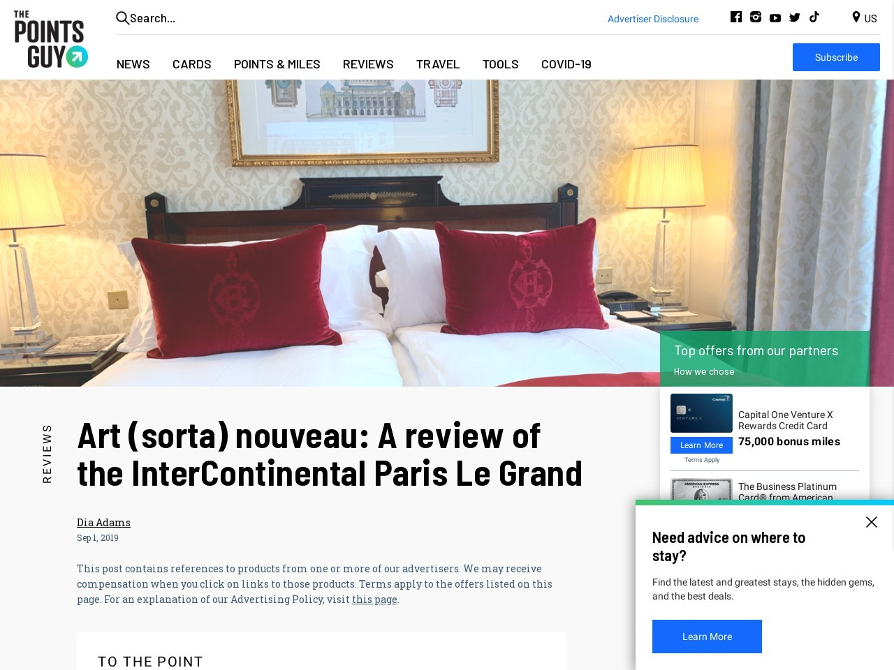 Review: InterContinental Paris Le Grand Hotel