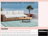 Indian Artisans at Their Best to Bring You Rugs Better Than the Rest!