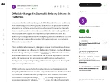 Officials Charged in Cannabis Bribery Scheme in California