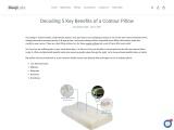 Decoding 5 Key Benefits of a Contour Pillow