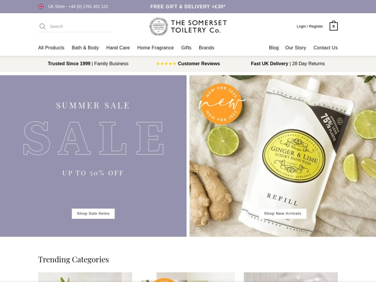 The Somerset Toiletry Discount Codes screenshot