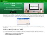 Quickbooks Web Connector Error