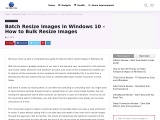 Batch Resize Images in Windows 10