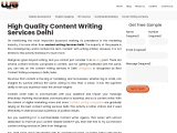 Best Content Writing Services in Delhi 2021