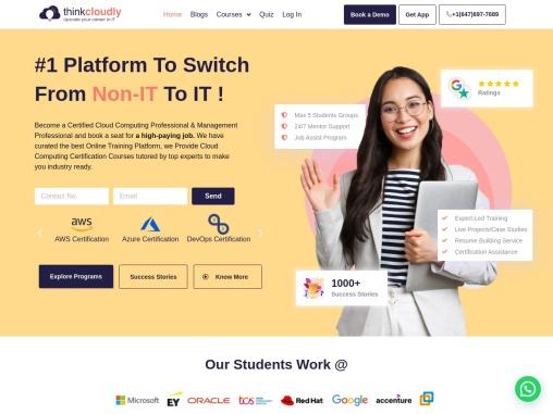 world's no#1 cloud computing online training