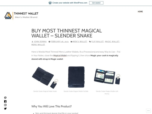 Buy Slim Magic Wallet, Magical Flip Leather Wallet at Rs. 399