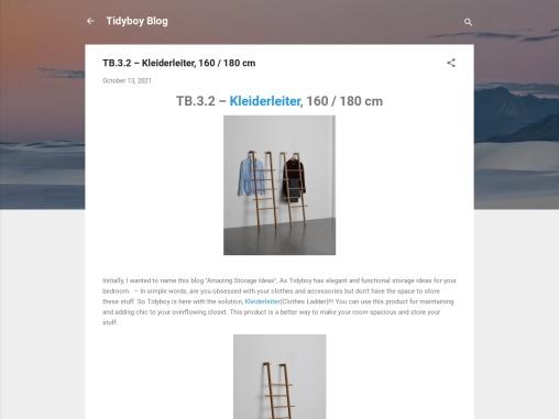 TB.3.2 – Kleiderleiter, 160 / 180 cm