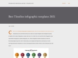 Unique timeline infographic template for download