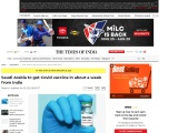 Saudi Arabia to get Covid vaccine in about a week from India