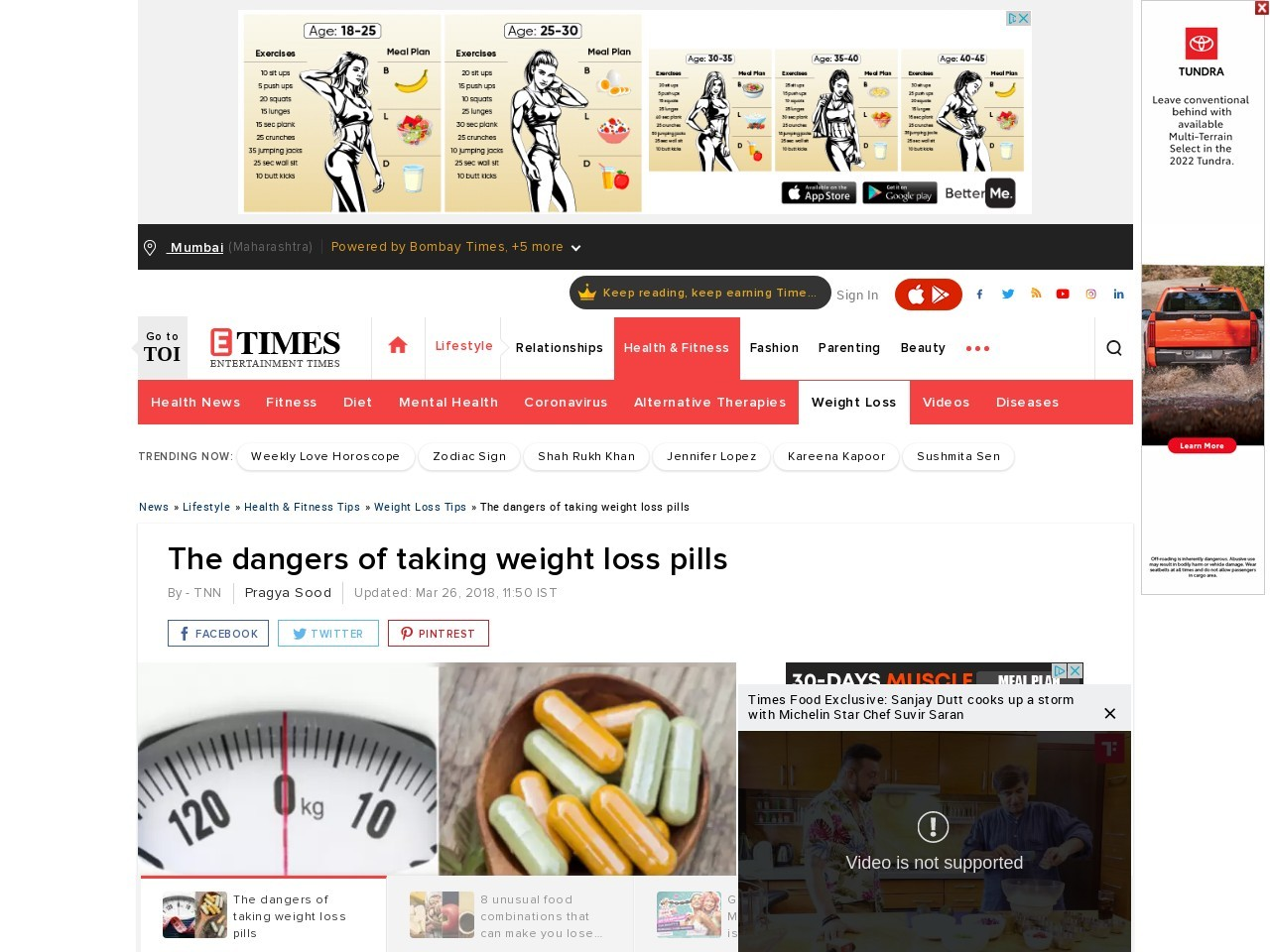 The dangers of taking weight loss pills