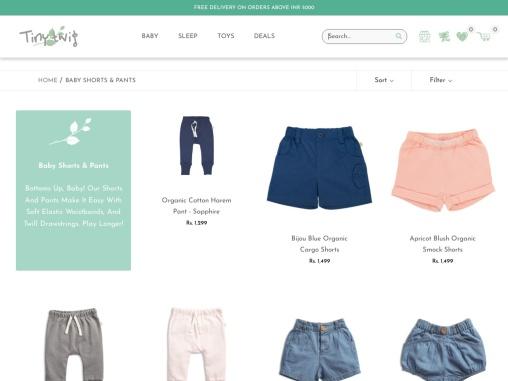 baby shorts | Tiny Twig | Private ltd