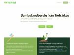 TioTräd - bambu tandborste på prenumeration