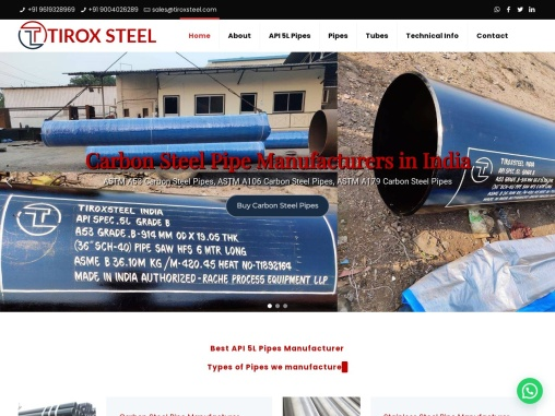 Alloy Steel Pipes & Tubes Manufacturers, Suppliers, Exporters in India – Tirox Steel