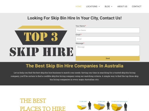 We have listed the Top 3 Skip Hiring companies in each capital city based on our selection criteria.
