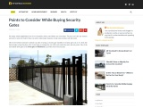 Points to Consider While Buying Security Gates