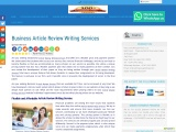 Business Article Review Writing Services